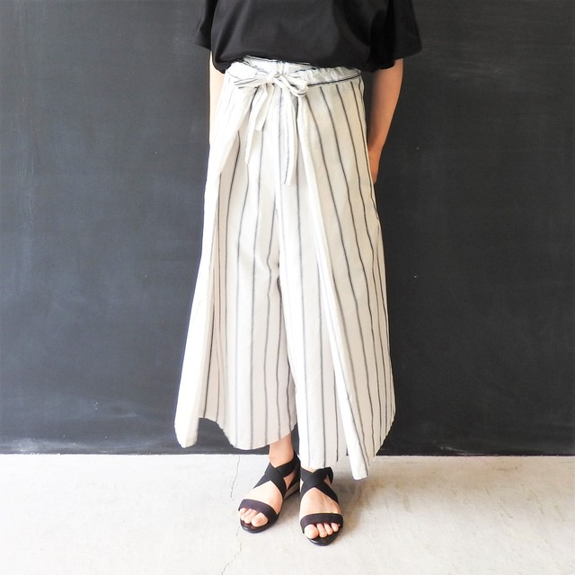 STRIPE BIG PANTS