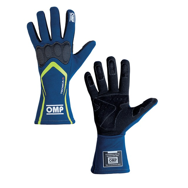 IB/764/BGI TECNICA-S GLOVES BLUE/YELLOW