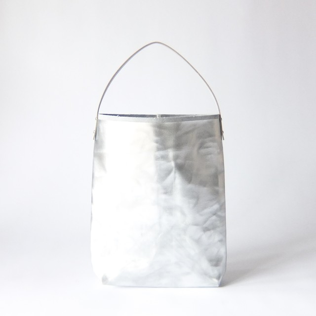 how to live - Flat Tote Bag Handle Medium トートバッグ - Silver
