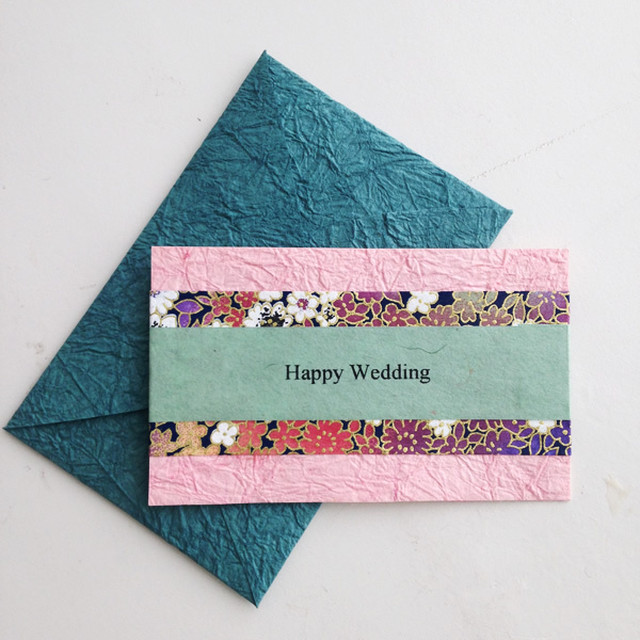 和紙の結婚祝いカード(Wedding010)