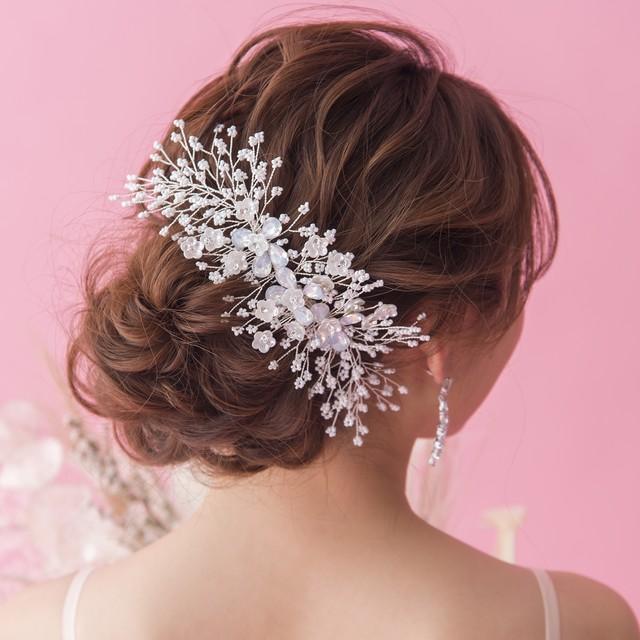 Opal Flower Bouquet ブライダルヘッドドレス