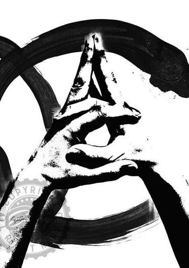 Craig Garcia 作品名:Sign language C 03  A3ポスターフレームセット【商品コード: cgslc03】