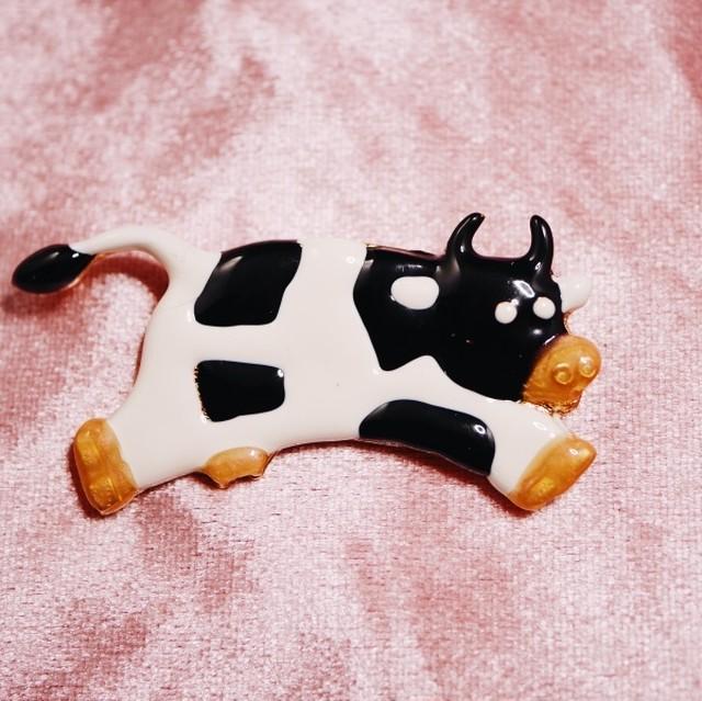乳牛 ヴィンテージブローチ