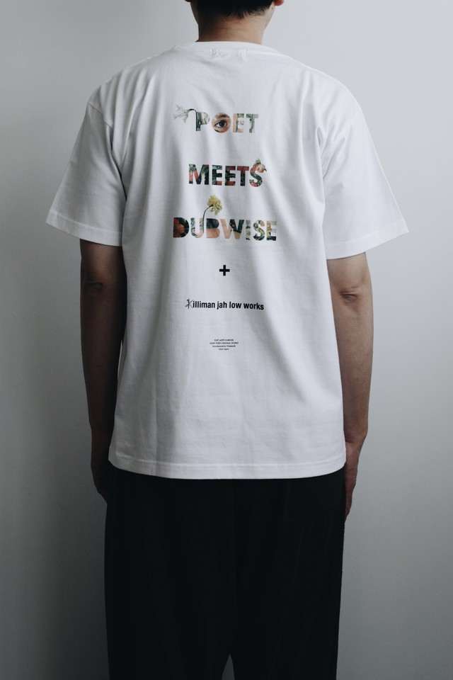 【POET MEETS DUBWISE(ポエトミーツダブワイズ)】× KILLIMAN JAH LOW WORKS PMD Logo Collage Inkjet T-shirt
