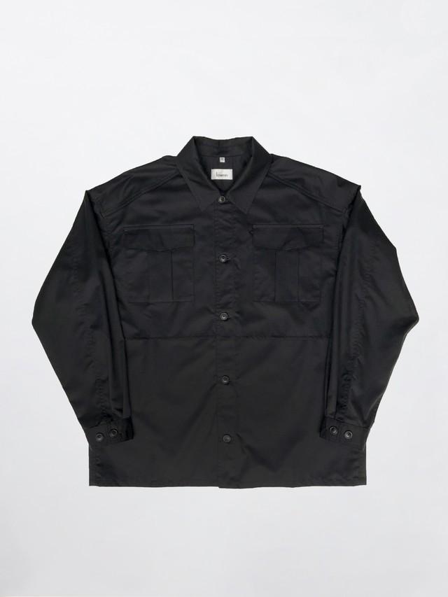 Lownn Layered Shirt Black FW20-LAYER-00190-215