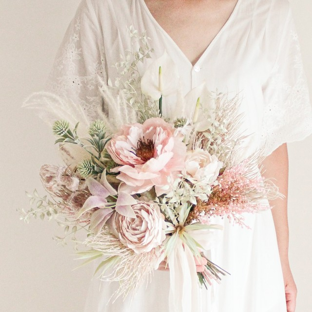Pink Peony Bouquet&Boutonniere
