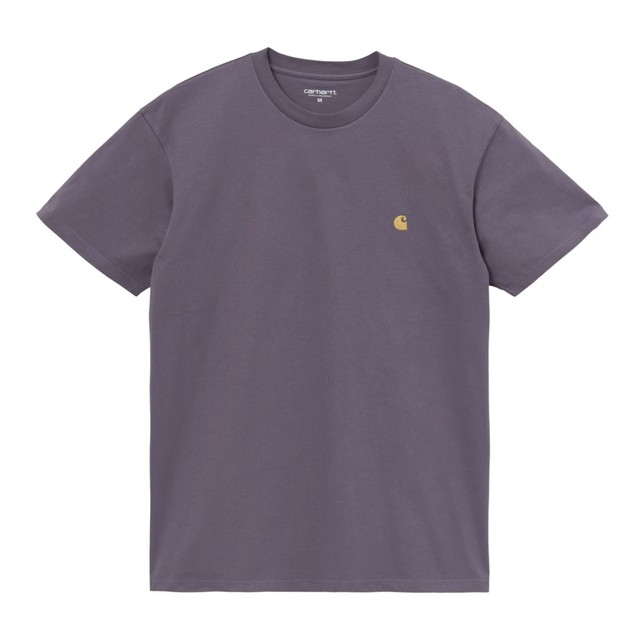 CARHARTT W.I.P S/S CHASE T-SHIRT - PROVENCE / GOLD