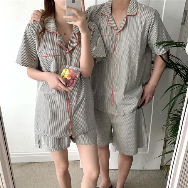 striped summer pajamas(2SIZE)