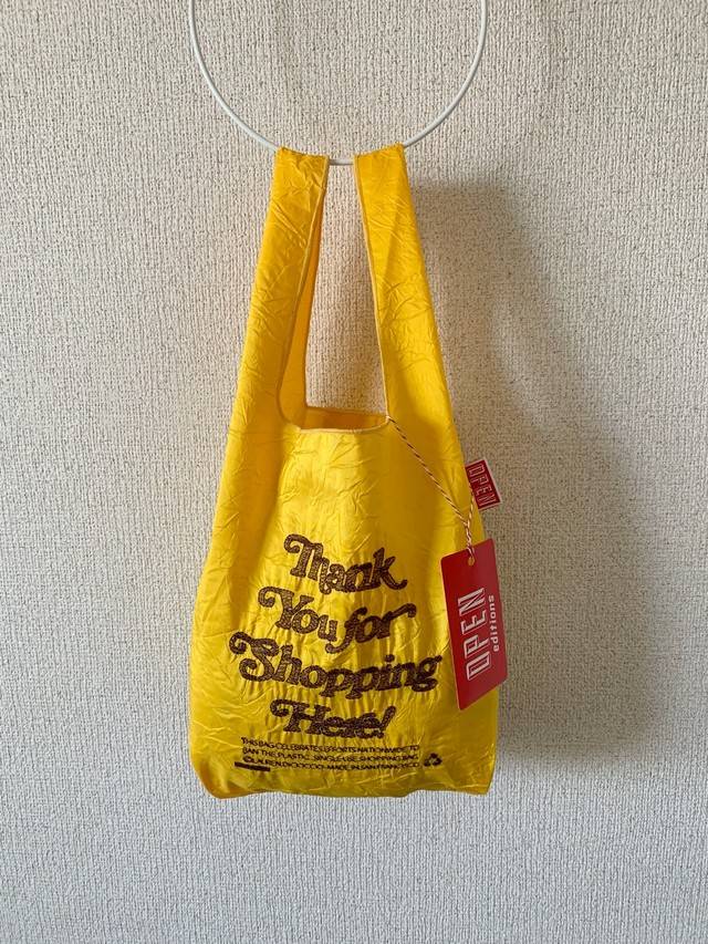 【OPEN EDITIONS / 送料無料】THANK YOU MINI エコバッグ/ THANK YOU FOR SHOPPING HERE Yellow