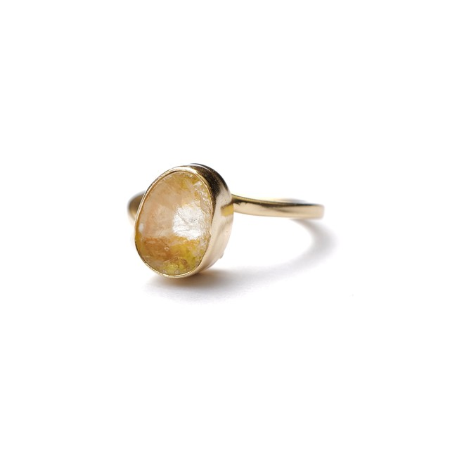 ROUGH STONE RING GOLD 030