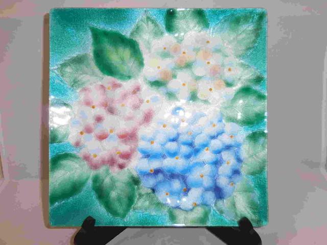 七宝網目小皿(5客)five enamel plates