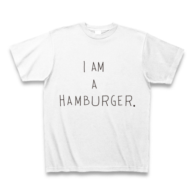 I am a hamburger.T_白