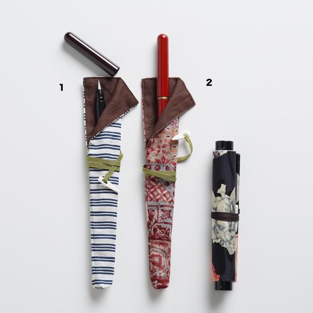 漆塗り携帯用筆ペン グリーティングカードセット