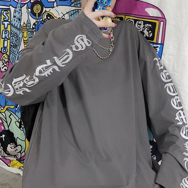 スリーブリフレクトレタリングTシャツ(全4色) / HWG415