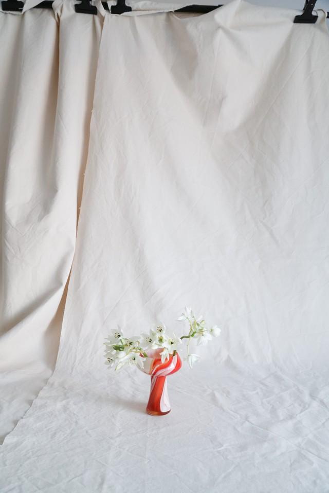 Retro Red Orange Marble Flower Vase