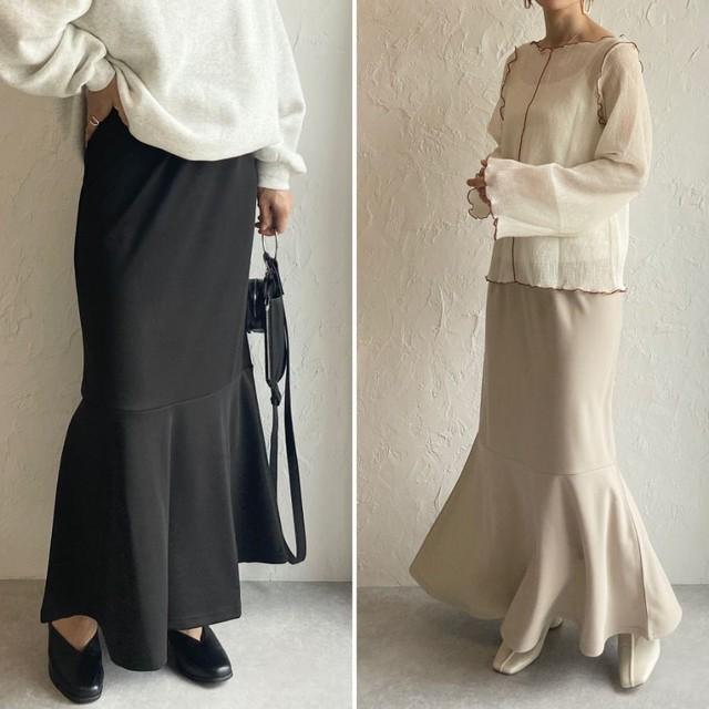 ◆即納◆ハイウエストポンチロングマーメイドスカート OP-t210