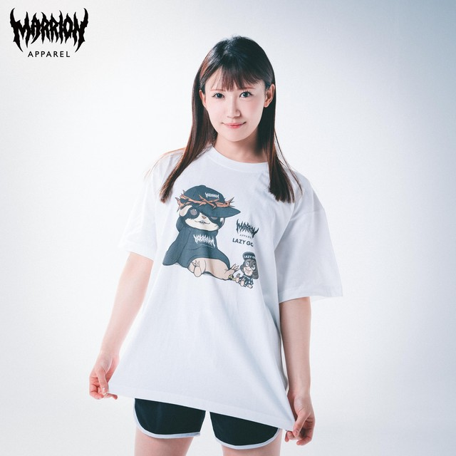 "【Cotton100%】"" LAZY MARRION "" TEE LAZY GOD×MARRION APPAREL ×WHITE"