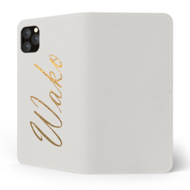 Custom Name iPhone with Premium Smooth Leather Case (Limited/6月分数量限定) Book Cover