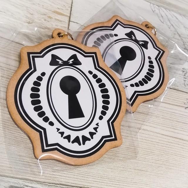 木製ロゴキーホルダー
