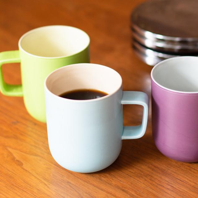 洛色MUG〈色名:加茂の浅水〉京焼・清水焼をモダンに愉しむオリジナルマグカップ(化粧箱入)