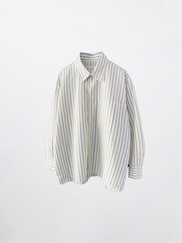 CAMIEL FORTGENS Basic shirt sleeve Blue Stripe 11.03.01