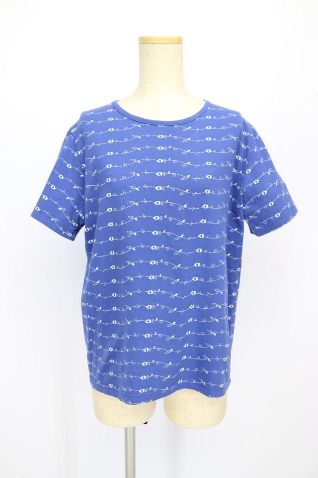 print design t-shirt / BLU