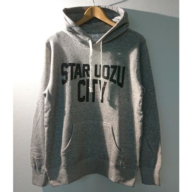 "STAR UOZU CITY ""vintage type"" パーカー 【チャリTEE】"