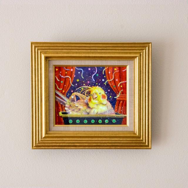 【1点もの】絵画:大渕美喜雄 「気持ちいい」テンペラ