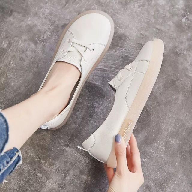 【shoes】浅い口ソフト合わせやすいフラットシューズ