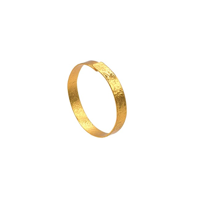 《リング》TIN BREATH Ring 20×80 mm Gold plate