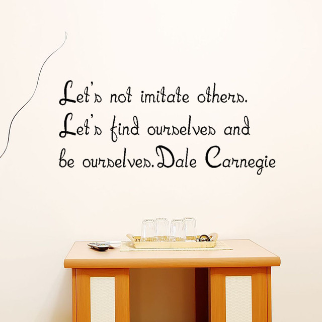 売れてます(^^♪ 自己啓発の有名人 デール・カーネギーの残した言葉のウォールステッカー 黒色
