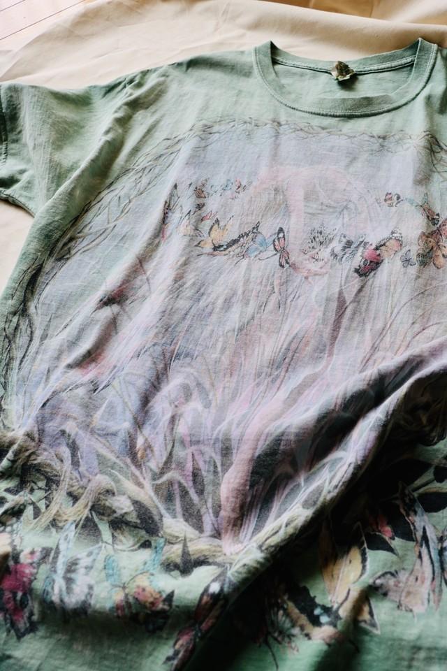 "Tie-Dye printed ""Butterfly"" t shirt"