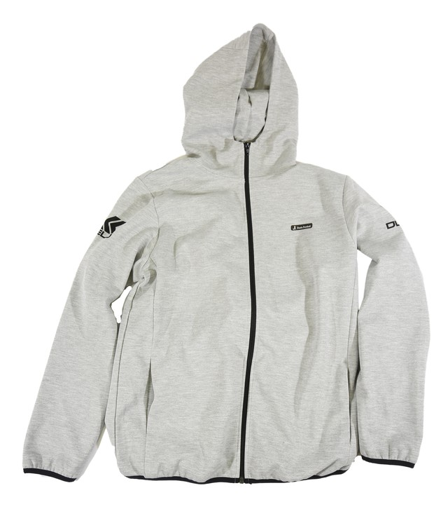 20010 Hood zip sweat top GRY