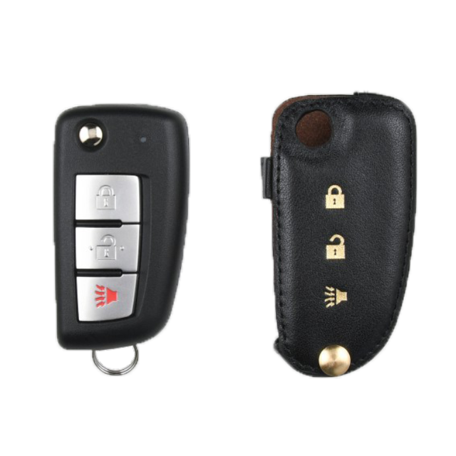 Nissan 専用 Type-C Car Key Case Shrink Leather Case