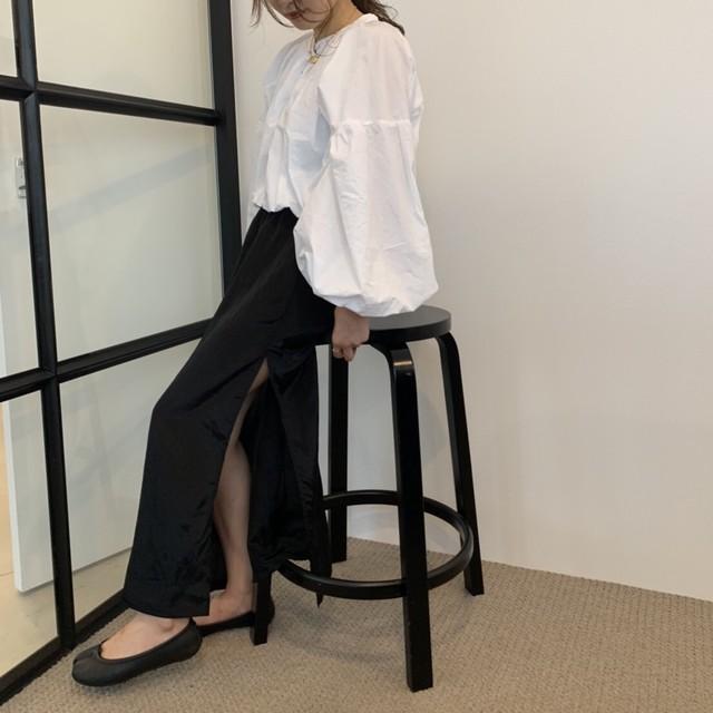 original Long slit skirt 【black】