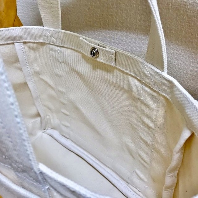「軽いボックストート」小サイズ「生成り」帆布トートバッグ 倉敷帆布8号【受注制作】