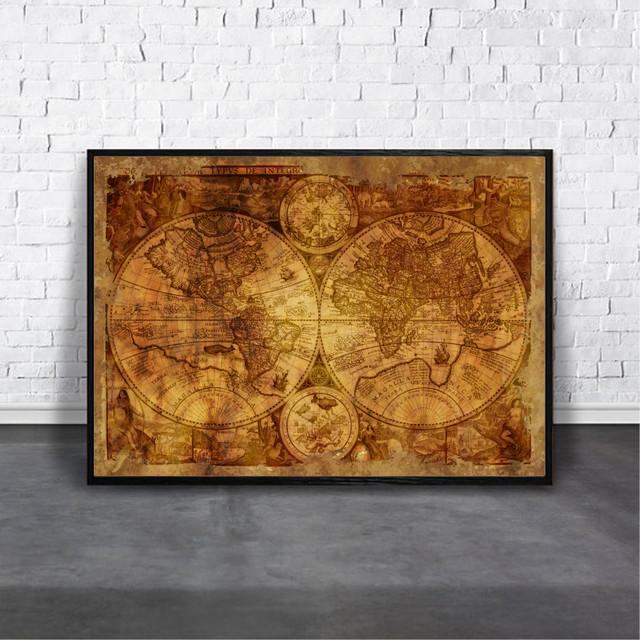 Map of the world / 【アートポスター専門店 Aroma of Paris】[AP-000253]