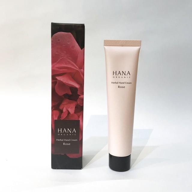 HANAオーガニック ハーバルハンドクリーム ローズ 40g