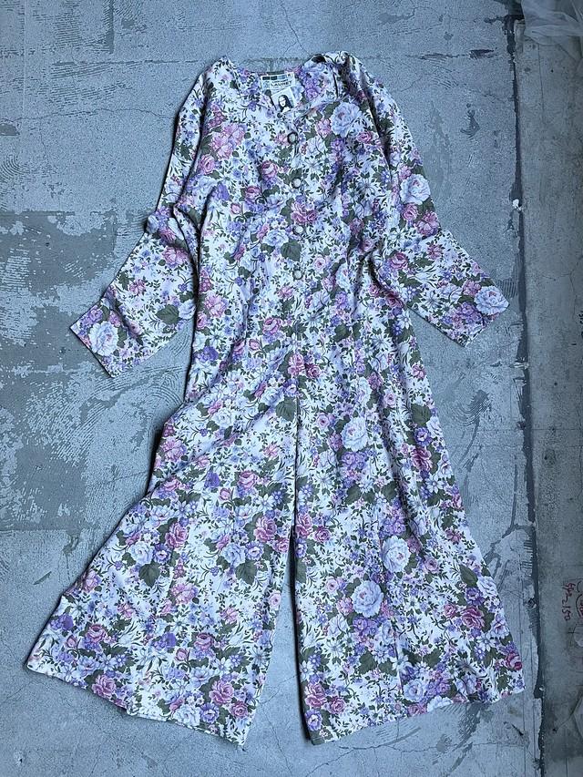 vintage floral jump suit