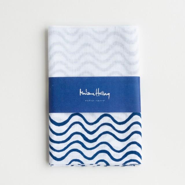 注染てぬぐい/ マリアンヌの波【Marianne Hallberg(マリアンヌ・ハルバーグ)】 北欧ブランド 日本製