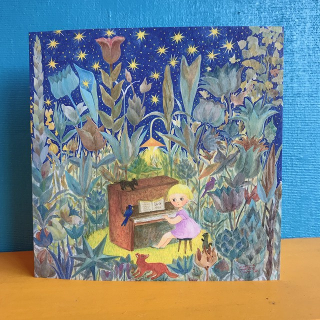 "Greetting card ""Flower garden"""