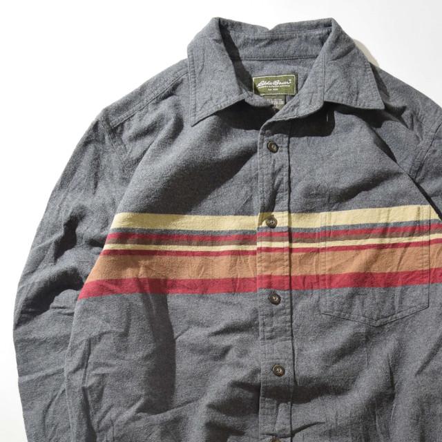 【Mサイズ】Eddie Bauer エディーバウアー Wool Shirts ウールシャツ GRAY グレー M 400602191009