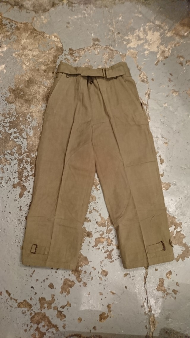"""40s """"FRENCH ARMY MOTOR CYCLE RIDING  PANTS 後期型"""" DEAD STOCK"""