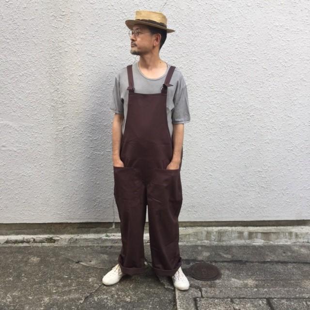 yarmo ヤーモ fisherman overall brown