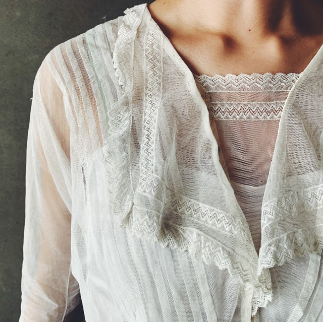 French tulle blouse