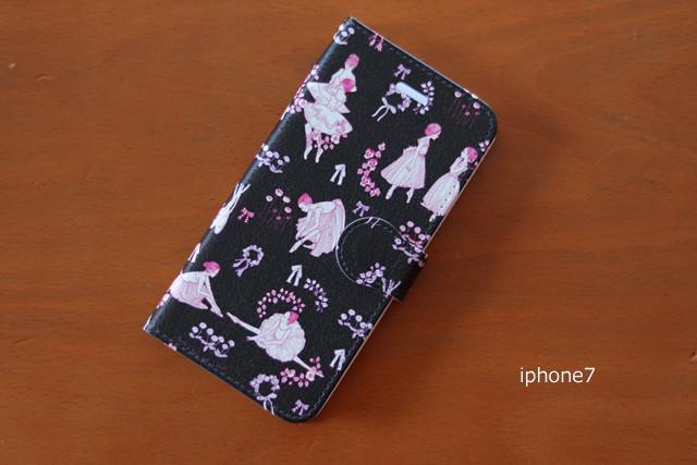 オリジナルバレエ柄 iphone ケース:iphone7、iphone8