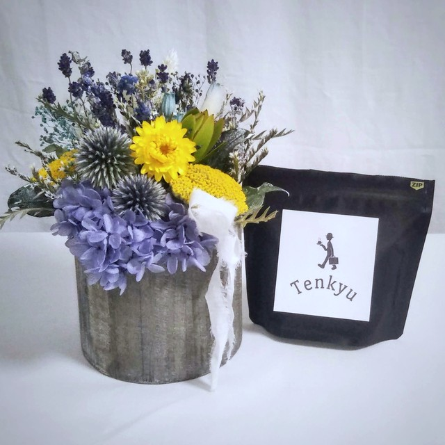 Father's coffee&flower set(深煎り豆100g)