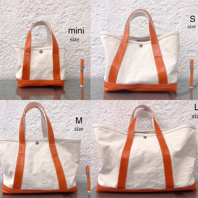 Simva161-0032 Canvas Leather Tote Medium 2020SS