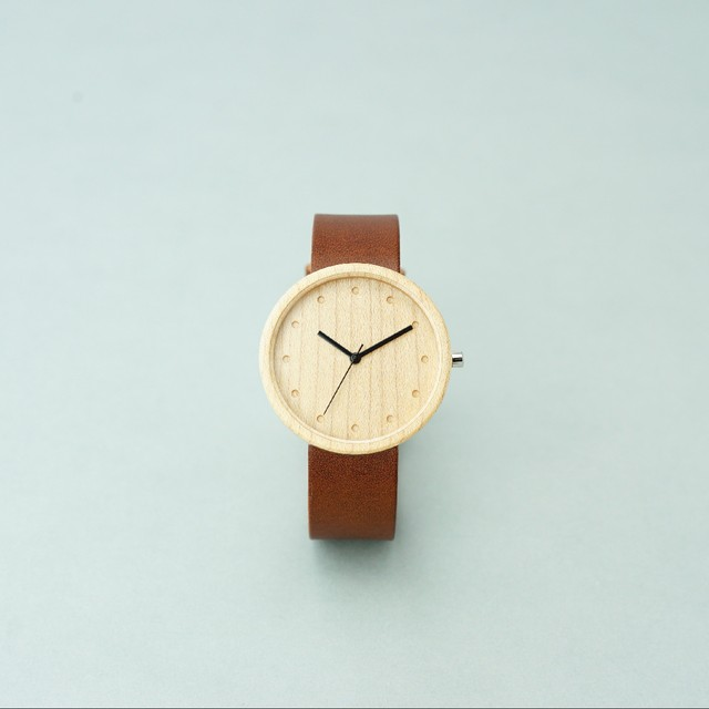 Maple wood - Organic leather Dark Brown - L
