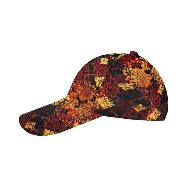 家紋装飾ゴールドブラック Baseball Cap・ベースボールキャップ